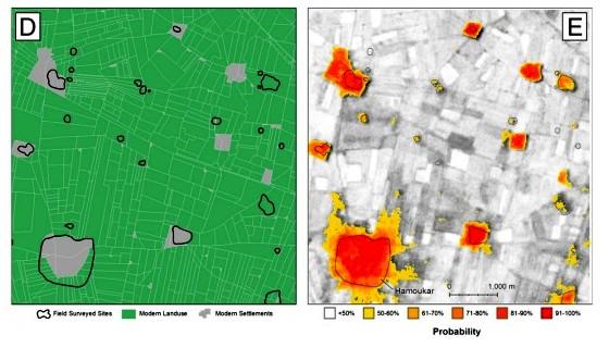 Античные города видны на инфракрасных снимках со спутников