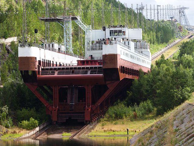 Красноярский наклонный судоподъёмник