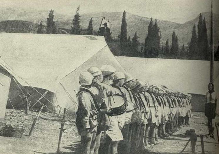 Документальное фото летнего лагеря для детей Артек, 1925 год