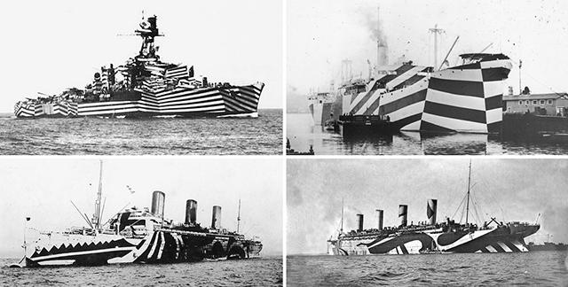 камуфляж кораблей предложенный Вилкинсом и Уодсвортом