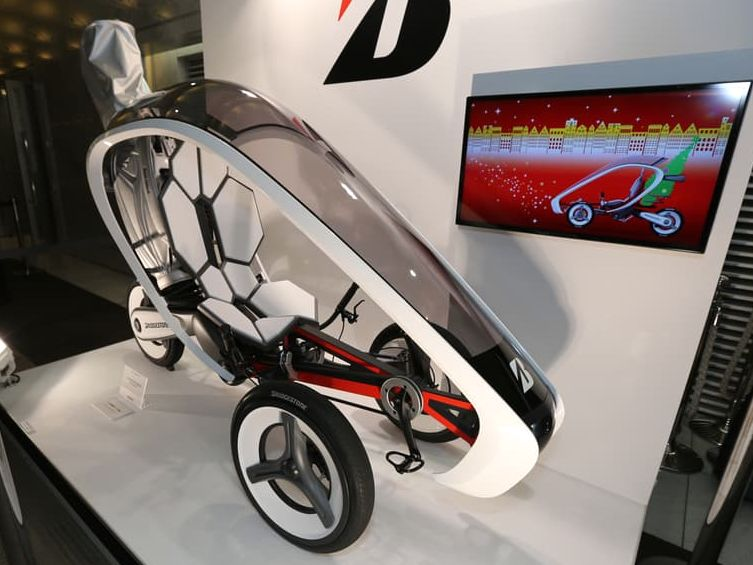 Bridgestone's pedal-electric trike on the Tokyo Motor Show