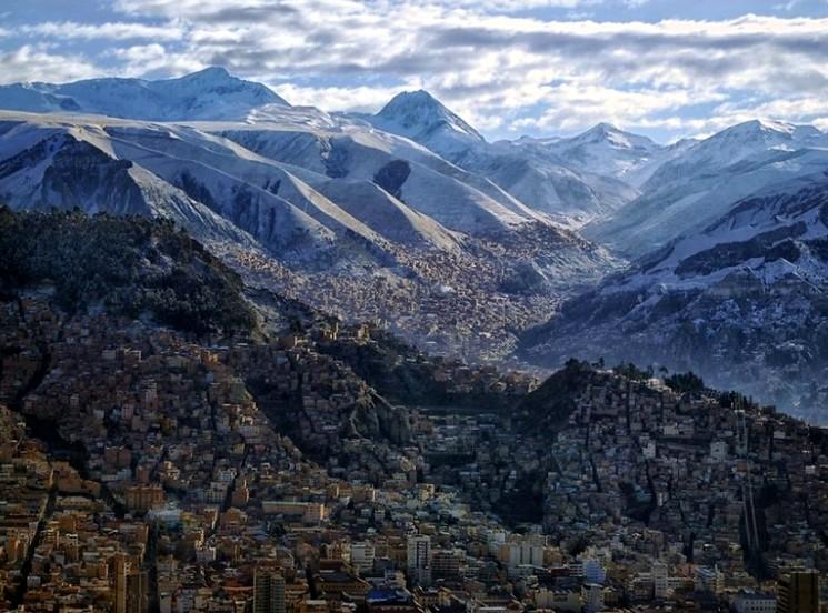 Столица Боливии - высокогорный город Ла-Пас