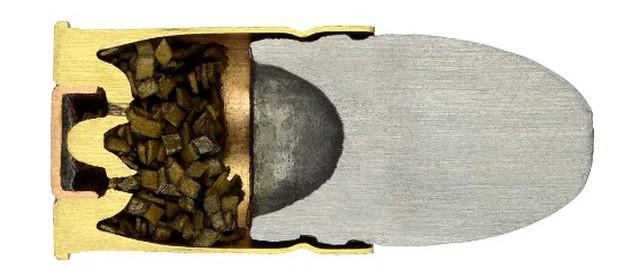 Револьверный патрон со свинцовой безоболочечной пулей .450 Adams