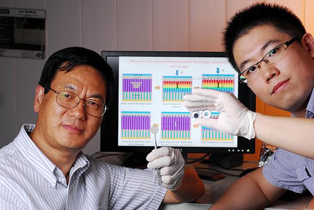 Профессор Чжун Линь Ван (слева) и доктор философии Сихон Ван (справа)