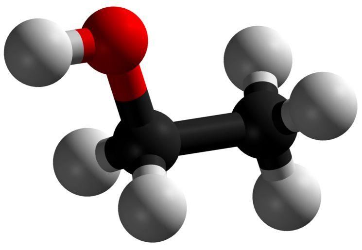 Молекула этанола - этиловый спирт