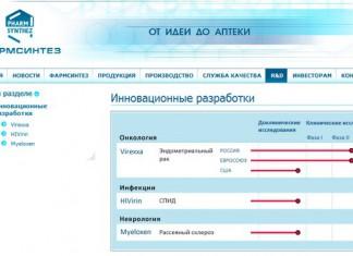 Российские инновационные фармацевтические разработки