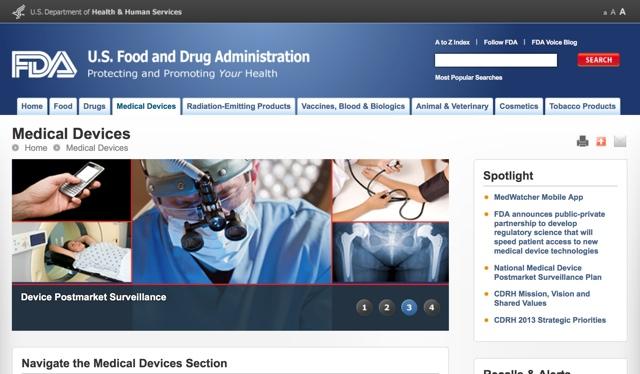 Официальный сайт FDA