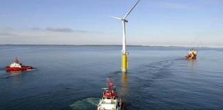 Плавающая ветро-электростанция Hywind