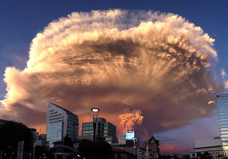 Вид на вулкан Кабулько из города