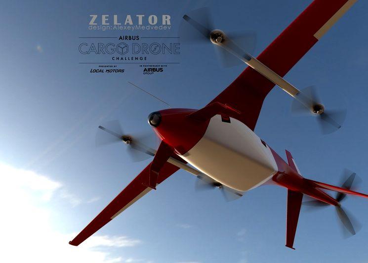 Грузовой беспилотник Zelator 28 в полёте