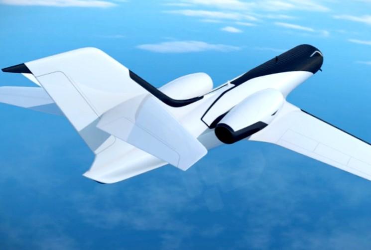 Самолет концепт без иллюминаторов IXION Jet