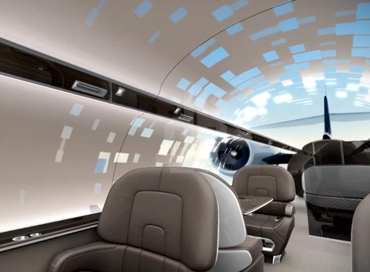 IXION Самолет без иллюминаторов, но с панорамным обзором