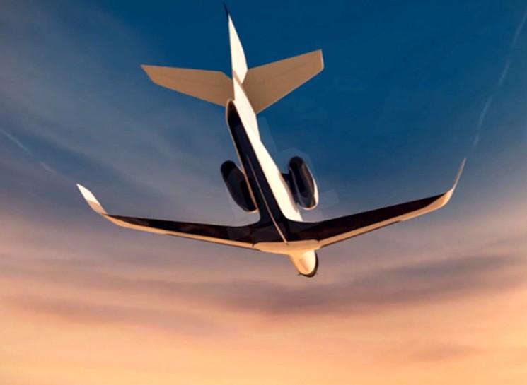 Самолет IXION без иллюминаторов, но с панорамным обзором