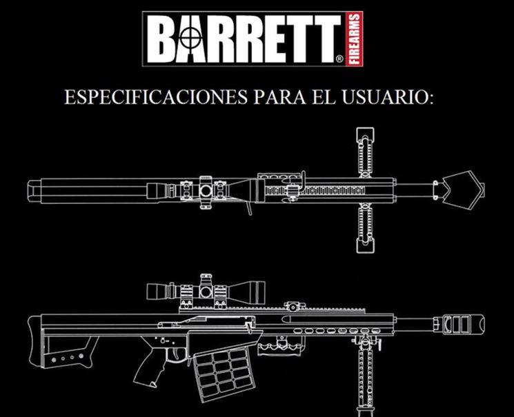 Конструктивные особенности гранатомета Barrett XM109