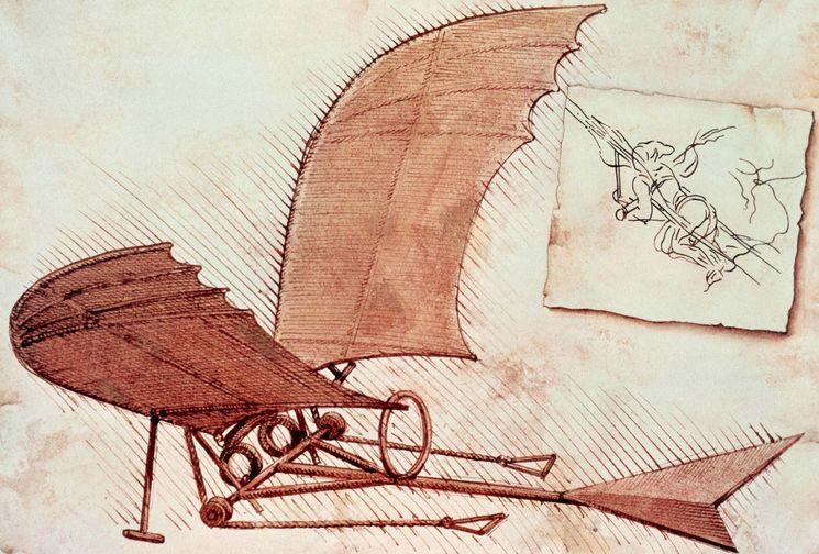 Летающая машина Леонардо да Винчи