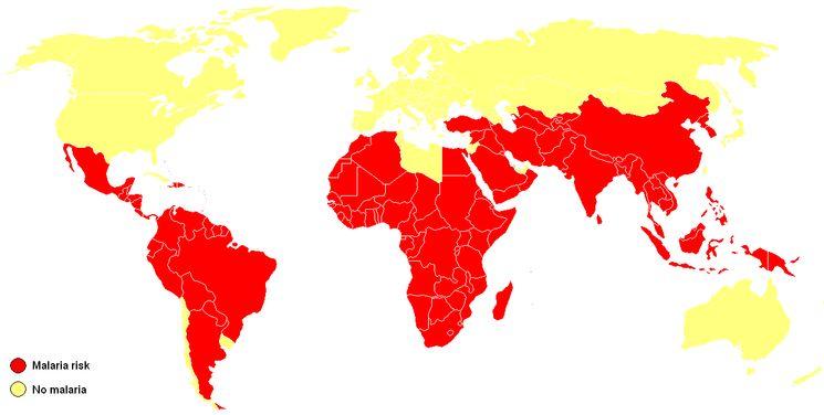 Ореол распространения малярии
