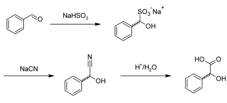 Процесс получения миндальной кислоты