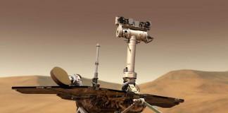 Марсоход на поверхности Красной Планеты