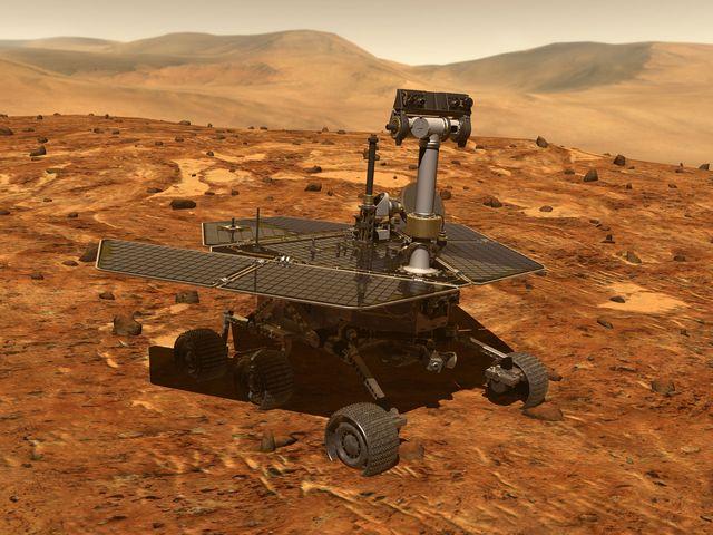 марсоход на красной планете