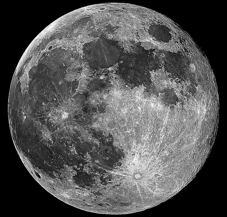 Фото Луны из космоса