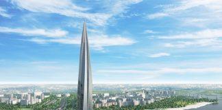 Небоскреб Лахта Центр - этапы строительства