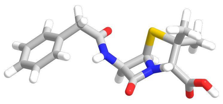 3D схема пенициллина