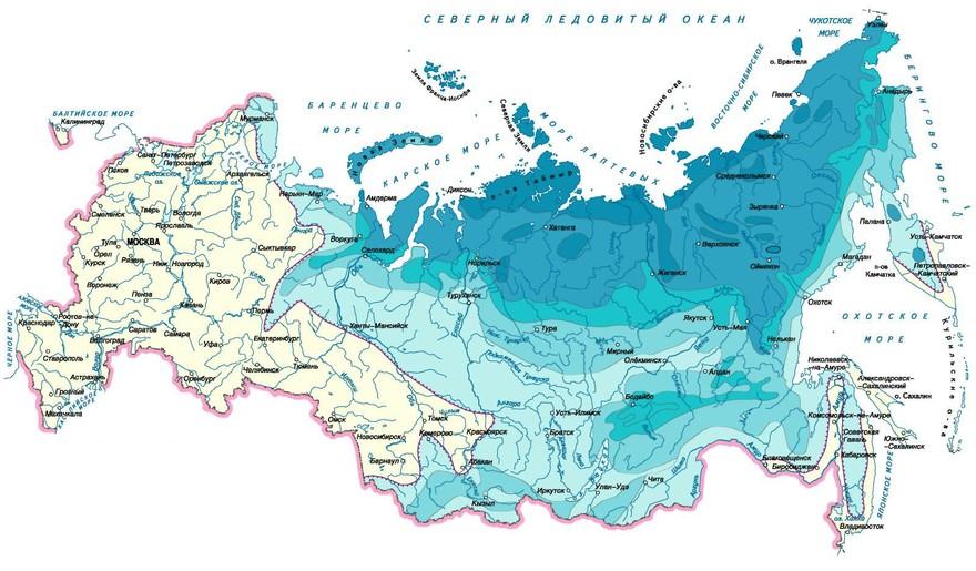 Вечная мерзлота на территории России