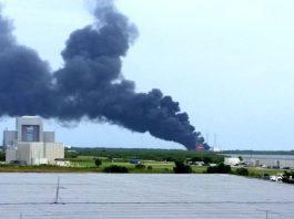 Многоразовая ракета Falcon 9 Илона Маска взорвалась
