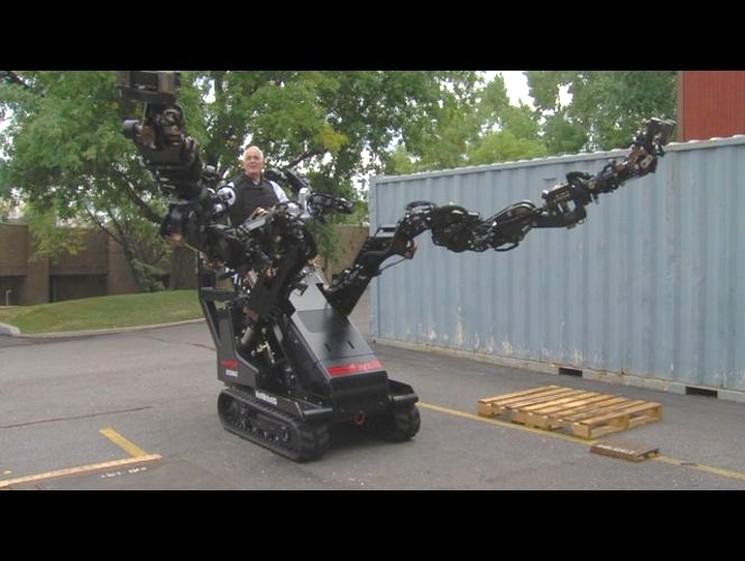 Телеуправляемый робот-трактор