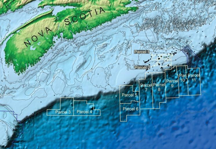 Карта глубин вблизи острова Сейбл