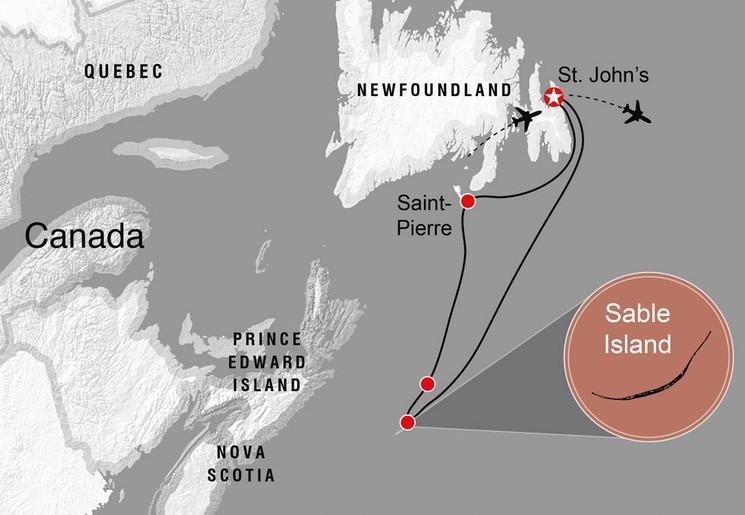 Карта острова Сейбл