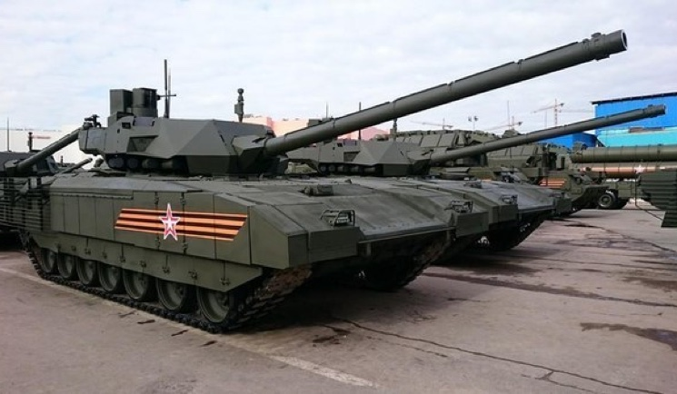 Фотография танка Армата без брезента на башне