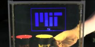 Прозрачный дисплей на основе избирательно-рассеивающей плёнки