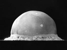 Ядерный взрыв Тринити - 0.016 сек после детонации