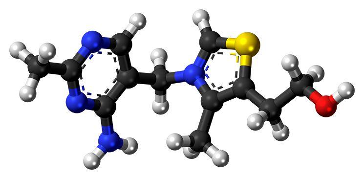 Структура витамина Б1
