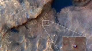 Марсоход Curiosity запечатлели с орбиты Марса