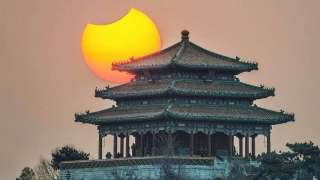 Снимок с частичным солнечным затмением удивил интернет