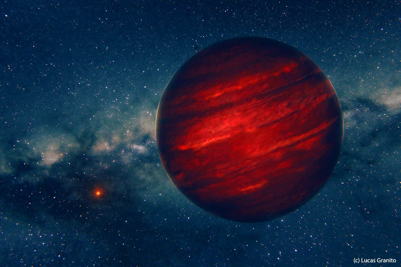 Рисунок экзопланеты GU Psc b