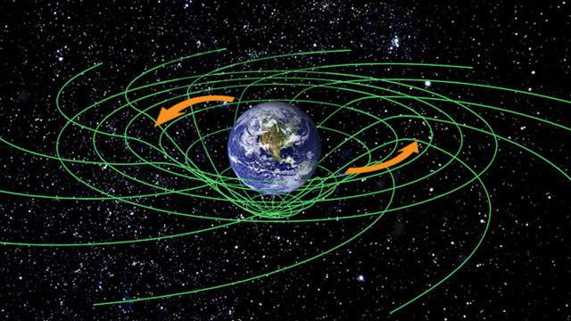 Схематическое изображение гравитационных линий