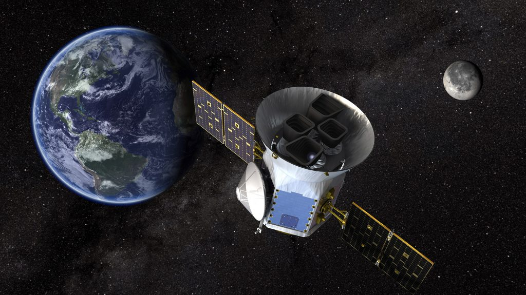 Космический телескоп NASA «TESS» в представлении художника