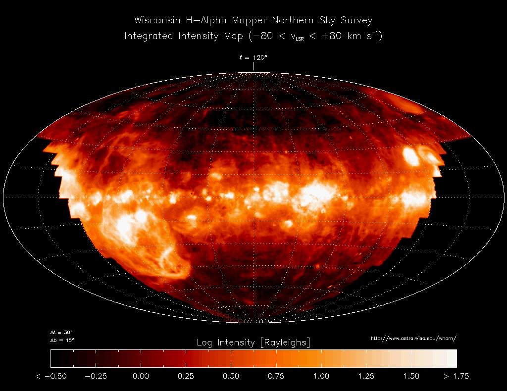 Распределение мезжвездного газа