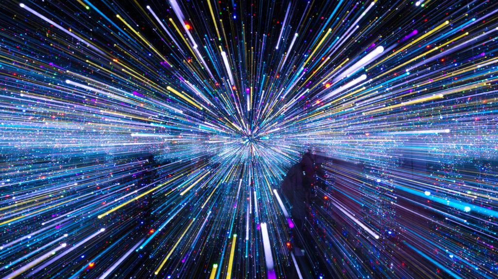 Скорость света в вакууме в представлении художника