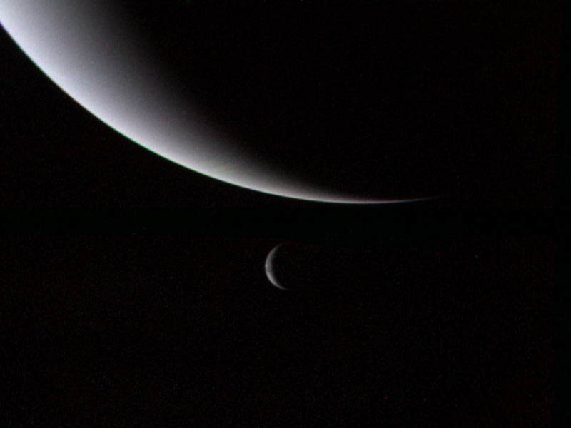 Нептун и его спутник Тритон