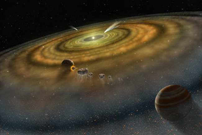 Кометы вокруг звезды Бета Живописца