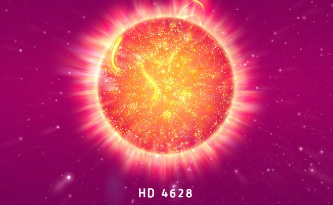 Трехмерная модель звезды HD 4628 (96 G. Piscium)