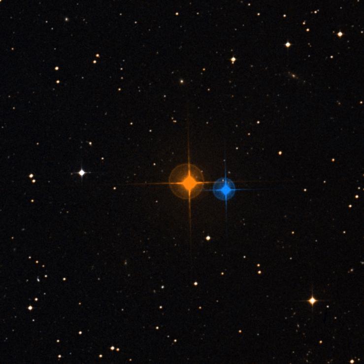 Звезда Лакайль 9352 (слева)
