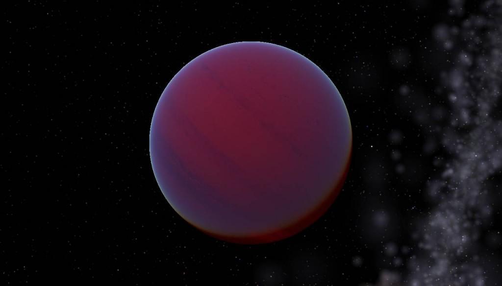 Звезда WISE 1506+7027, рисунок художника