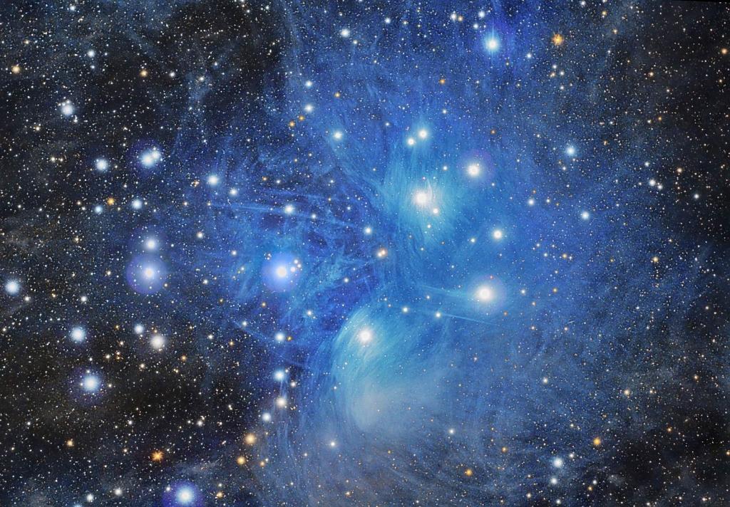 Глубокий снимок Плеяд