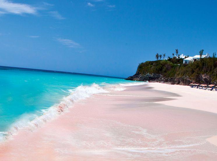 Розовые пляжи на Багамах