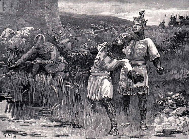 Ричард I убит стрелой арбалета